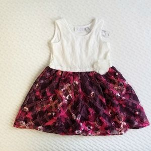 NWT Children's Place Lace Floral toddler Dress 4T